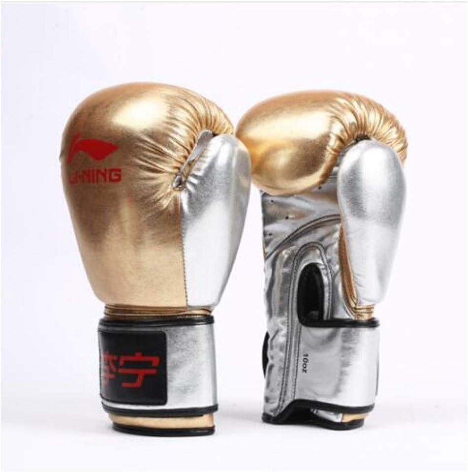 KUCHEQICHE ボクシンググローブ、アダルトサンダグローブ、ムエタイファイティングトレーニング、サンドバッグファイティンググローブ、10オンス、12オンス、 (Color : ゴールド, Size : 10oz) ゴールド 10oz