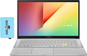 "ASUS VivoBook S15 S533FA Home and Business Laptop (Intel i7-10510U 4-Core, 16GB RAM, 512GB PCIe SSD, Intel UHD Graphics, 15.6"" Full HD (1920x1080), Fingerprint, WiFi, Bluetooth, Win 10 Pro) with Hub"