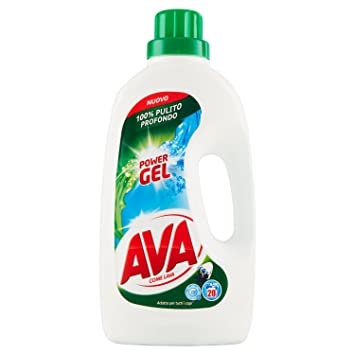 Ava Power Gel Detergente Líquido para Lavadora - 1300 ml - 20 ...