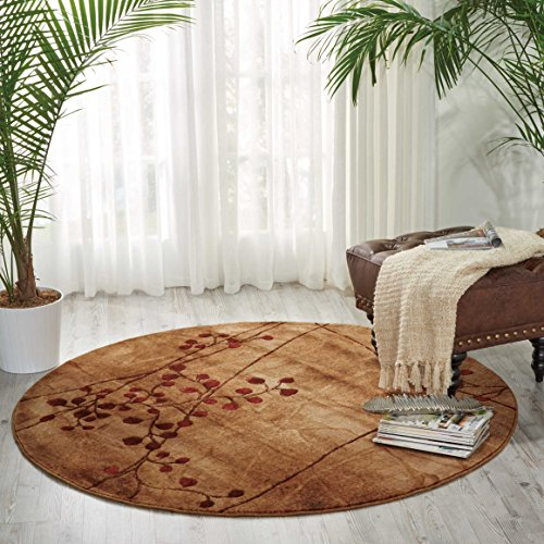 Nourison Somerset (ST74) Latte Round Area Rug, 5-Feet 6-Inches by 5-Feet 6-Inches (5'6'' x 5'6'') by Nourison