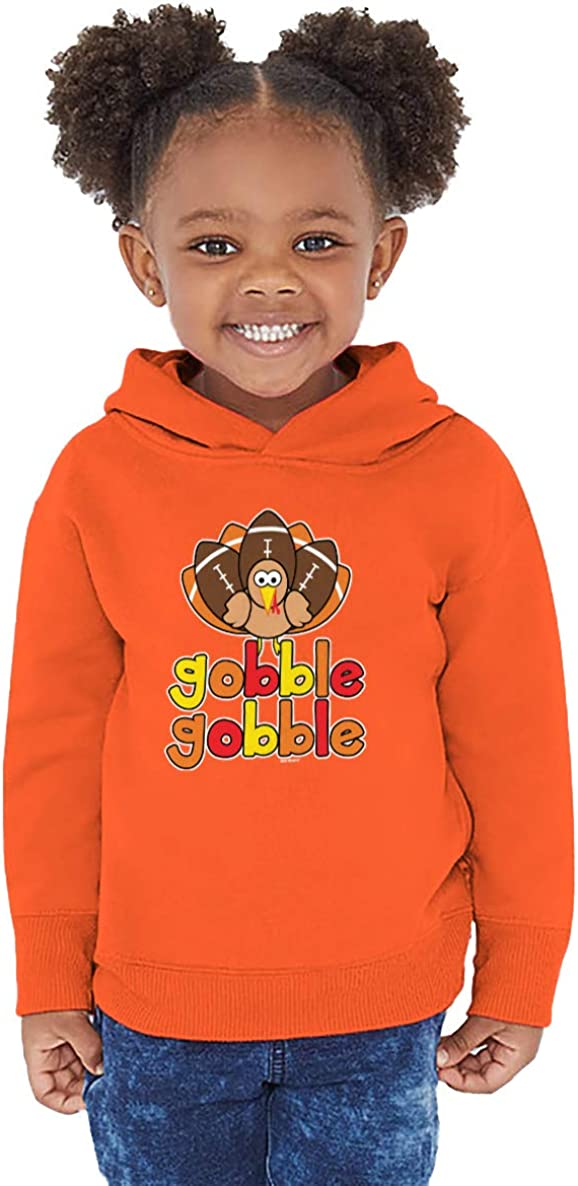 Haase Unlimited Gobble Gobble Football Turkey Autumn Toddler//Youth Fleece Hoodie