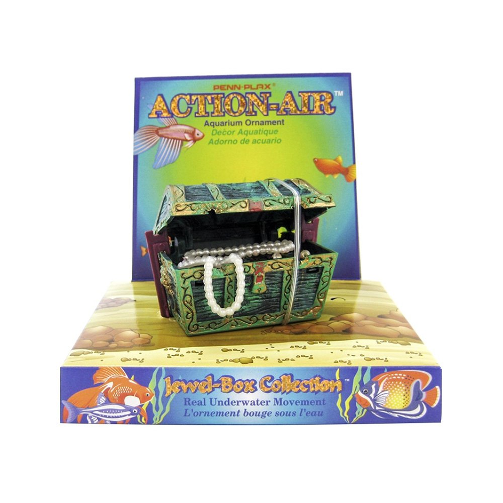 Penn-Plax-Aerating-Action-Ornament-Treasure-Chest-Opens-and-Closes-Mini