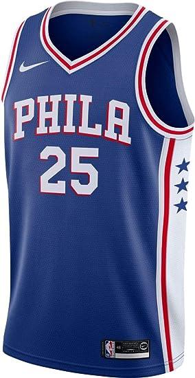 huge discount 84891 c2d06 Amazon.com: Jordan 76ers Ben Simmons Icon Edition Swingman ...