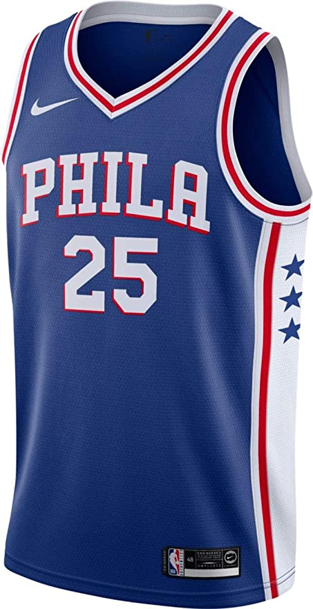 NIKE Ben Simmons Philadelphia 76ers Blue Swingman Icon Edition Jersey - <strong>Ben Simmons</strong>