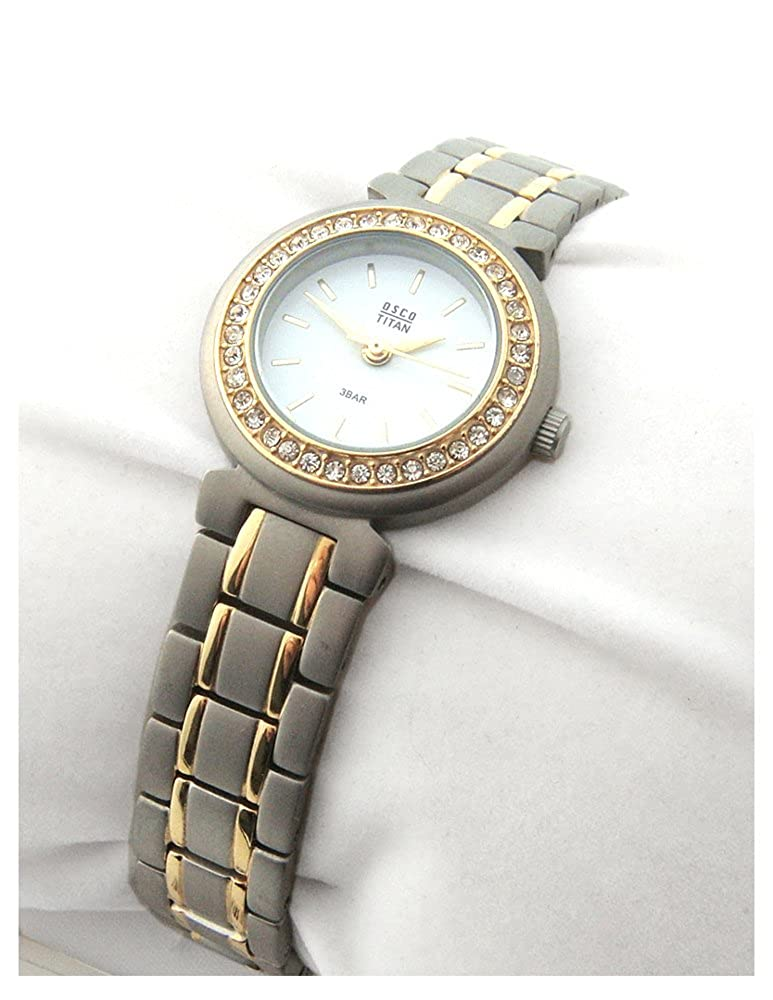 OSCO TITAN Armbanduhr Damenuhr Schmuckband Bicolor Weiß 05055003