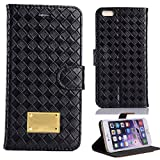 iPhone 6 Case, iPhone 6 4.7 Handmade Leather Case, RUBYMK [Luxury Fashion] [Stand Function] with Credit Card Slots Flip Cover Folio Magnetic Case Stand Leather For iPhone 6 4.7 --Black