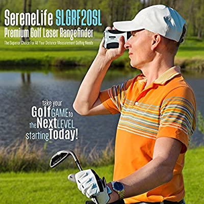 SereneLife Premium Golf Laser Rangefinder with Pinsensor - Digital Golf Distance Meter - Compact Design - with Travel Case from Sound Around