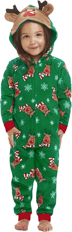 Landove Pijama Familiar de Navidad Invierno Mono Reno Pelele Rojo Verde