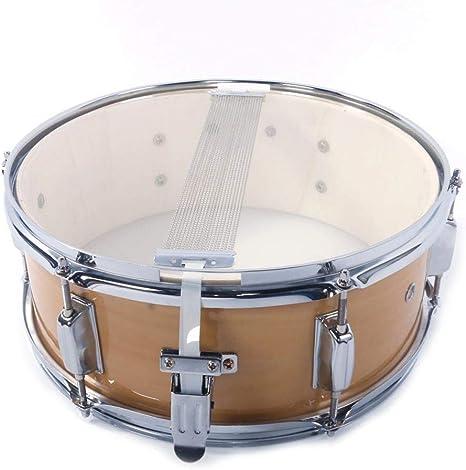 Knowledgi 14x5.5 pulgadas Profesional Snare Drum Instrumentos de percusión Kids Percusión Kit blanco con baquetas Drrap: Amazon.es: Instrumentos musicales