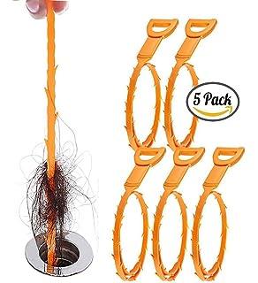 Desagües Serpiente Fregadero Gancho Herramienta de Limpieza 23,6 inch para Remueve pelo y Comida