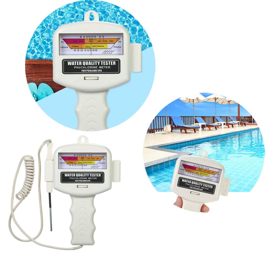 Sodoop Water Quality Tester, Digital PH Meter Portable Measure Water Quality PH CL2 Chlorine Tester for Spas, Swimming Pools, Rriver Water, Soil-Free Growing, Aquarium, Hydroponics and Other by Sodoop
