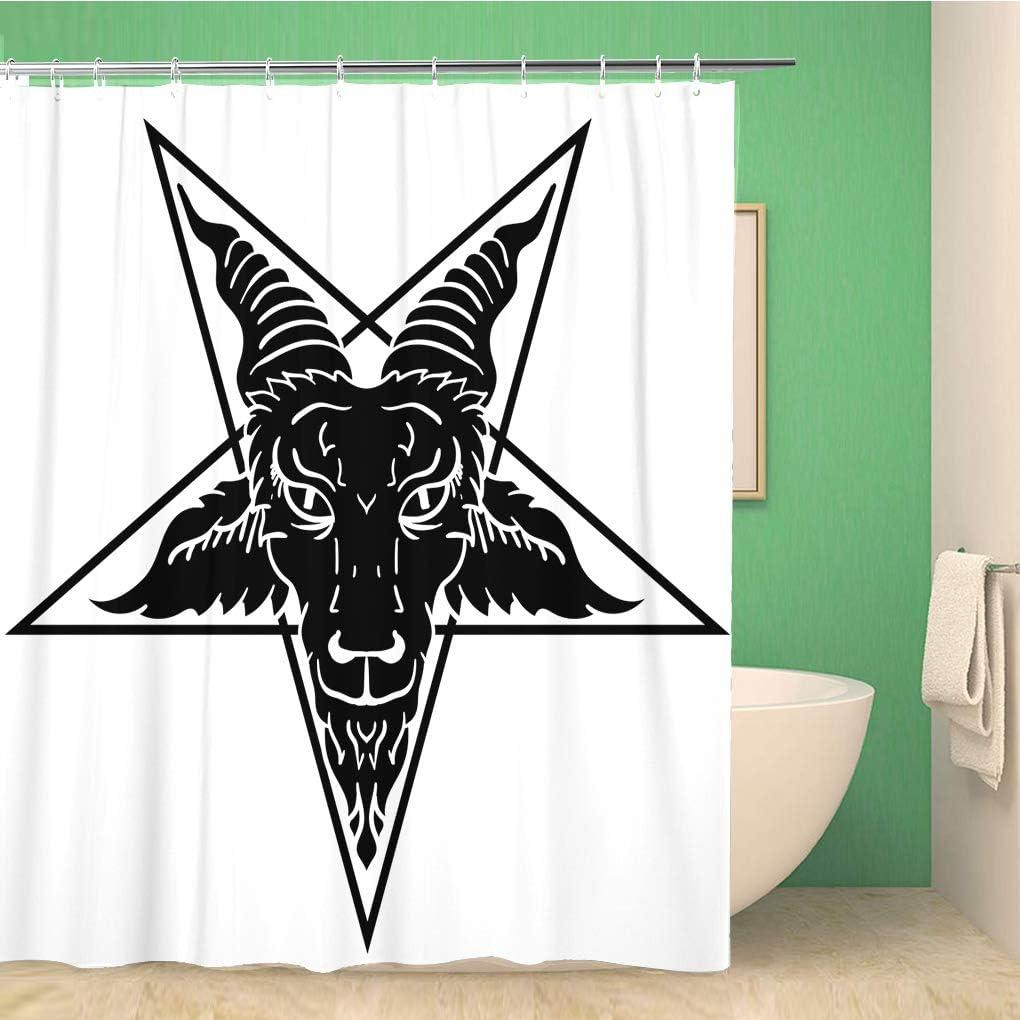 Awowee Decor Alchemy Satanic Cabra de Cabra en Pentagrama Baphomet ...