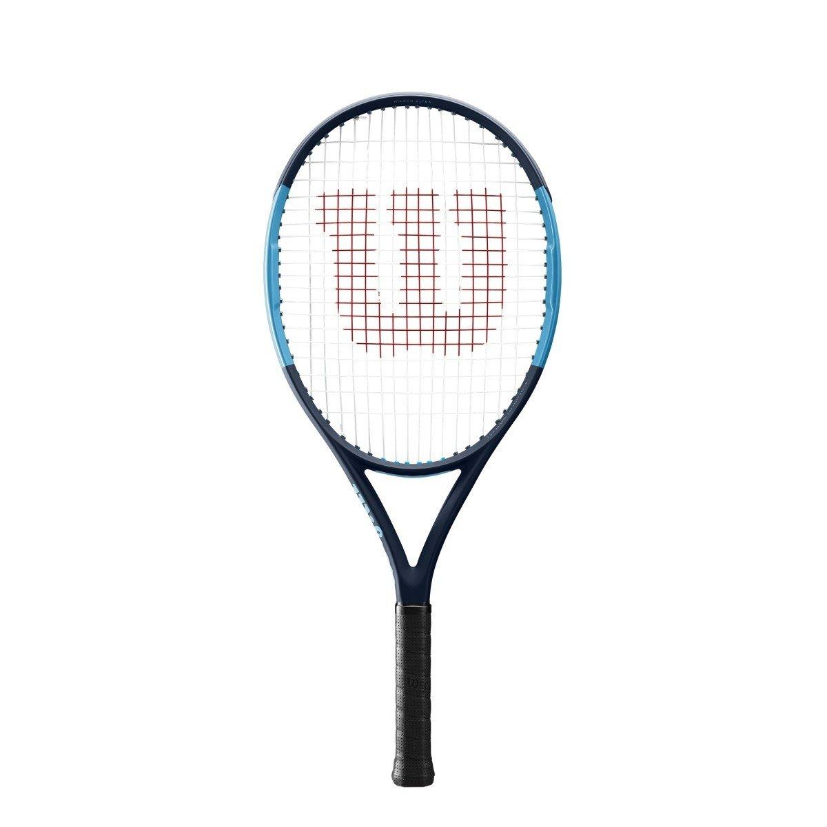 Wilson Ultra 25 Junior Tennis Racquet Strung Synthetic Gut Power String in Black Color