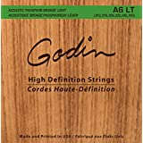 Godin Guitars 008995 Seagull A6 LT Phosphor Bronze Acoustic Guitar Strings, Light