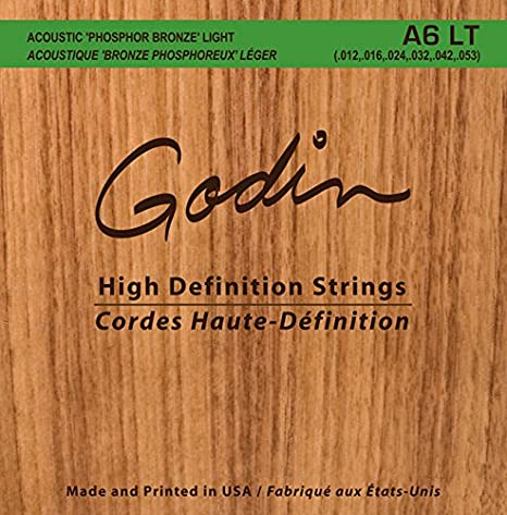 Godin guitarras 008995 Gaviota A6 LT fósforo bronce Guitarra ...