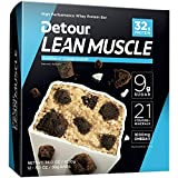 Detour Lean Muscle Whey Protein Bar, Cookies n' Cream Crunch Dough, 3.2 Ounce