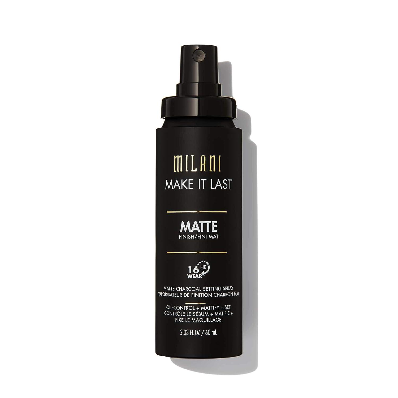 Milani Make It Last Matte Charcoal Setting Spray (2.03 Fl. Oz.) Cruelty-Free Makeup Setting Spray - Absorb Oil & Mattify Skin for Long-Lasting Wear