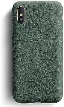 OPXZPM Caja del teléfono móvil X XS MAX Estuche para teléfono Cuero Cuero empresarial Estuche para teléfono Funda Trasera de Ante, Verde Oscuro, para iphoneXS: Amazon.es: Electrónica
