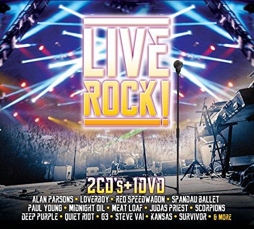 LIVE ROCK ! [2 CD'S + 1 DVD] ALAN PARSONS,G3,SCORPIONS,SURVIVOR,DEEP PURPLE Y MAS..