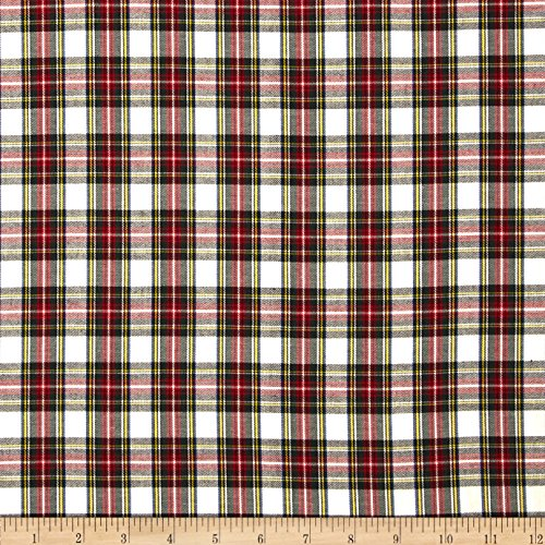 Robert Kaufman Kaufman House of Wales Plaid Ivory Fabric By The Yard - Plaid Fabric Seersucker