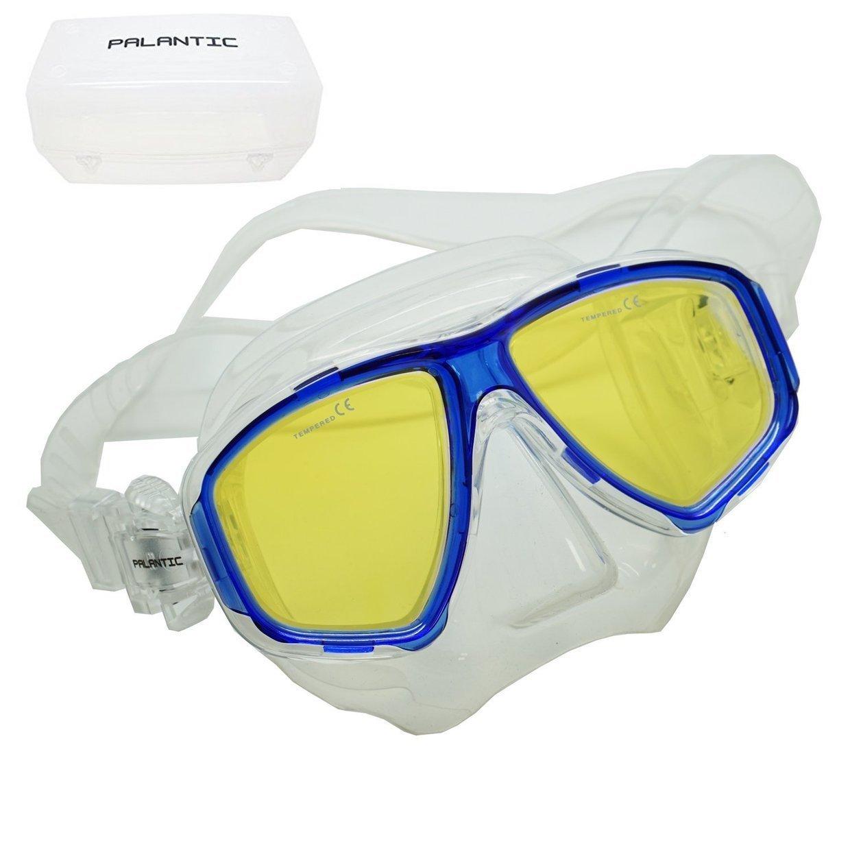 Scuba Choice用コーティング紫外線予防近視用処方箋Diveマスク、ブルー B072BRGMLH  Different Prescription For Each Eye