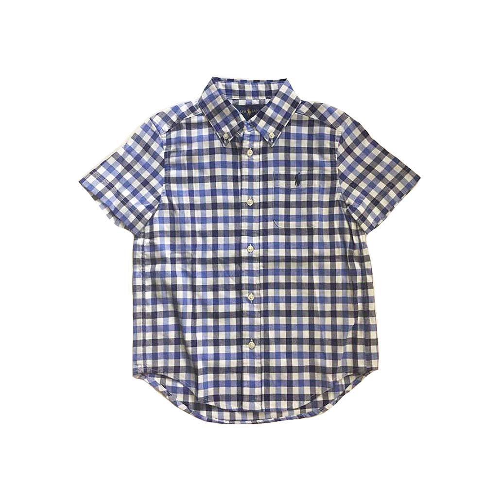 Polo Ralph Lauren Boys Check Pattern Short Sleeve Shirts Blue Multi