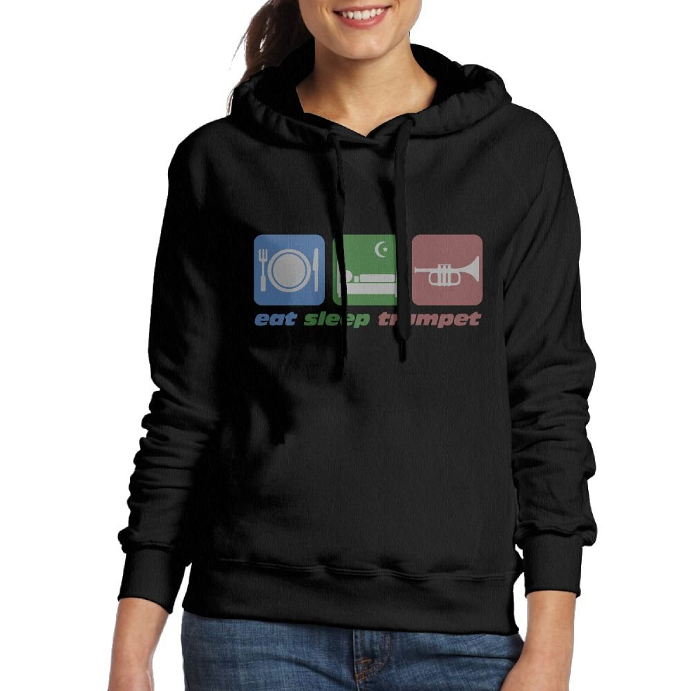 Eat Sleep Trumpet Womens Hoodie Sweatshirt For Fall/Winter For Women