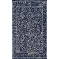Rugs America TL200G Accent Rug, 2 x 4, Antique Navy