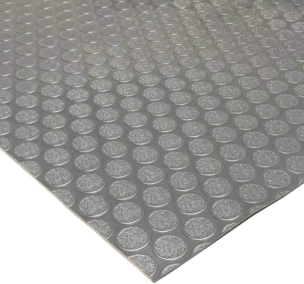2mm x 4 x 15 Feet 2mm Thick MMG PVC Flooring Coin-Grip Floor Runner for Garages Dark Grey Cars Boats and Decoration Gyms