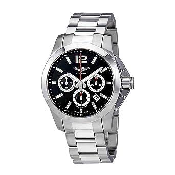 ae6d6fb565b81 Longines Conquest 44 mm L3.801.4.56.6 Automatique chronographe Cadran Noir  Montre Homme