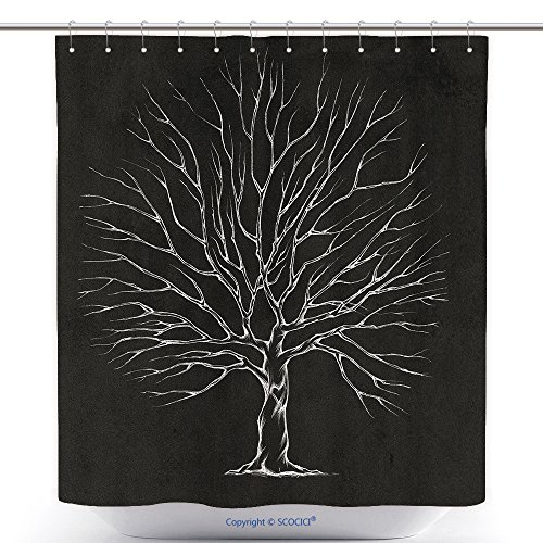 Mildew Resistant Shower Curtains Illustration Of A Tree For Wedding Couple With Great Treetop 440444794 Polyester Bathroom Shower Curtain Set With Hooks
