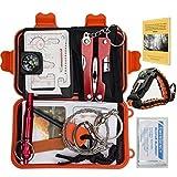 11 Item Compact Emergency Survival Kit Bundle w/ Free Paracord...