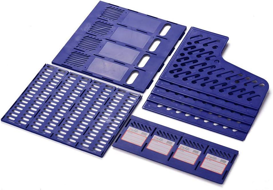 Aibecy Revista de 4 secciones Soporte de pl/ástico Divisor de archivos Gabinete de documentos Rack Organizador de almacenamiento Caja para escritorio de oficina escolar