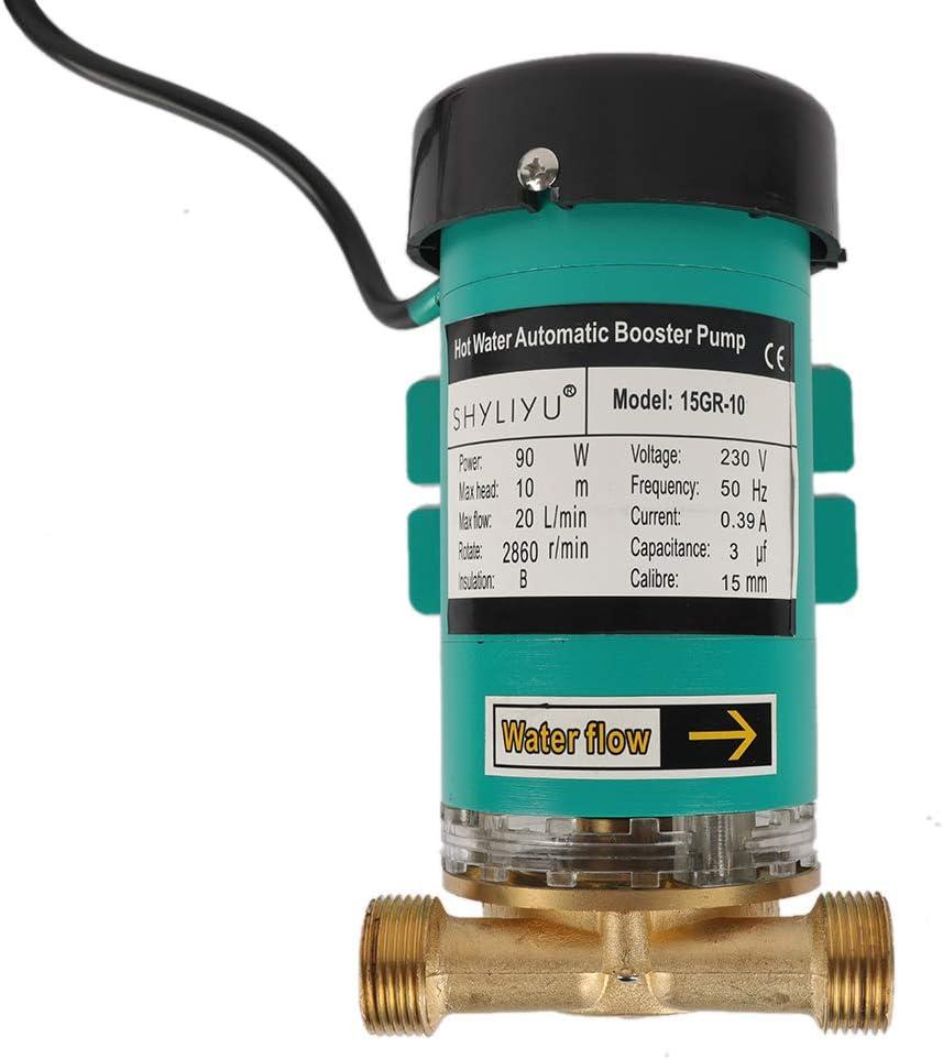 SHYLIYU Hei/ßwasser-Umw/älzpumpe Haushalts-Transferwasserpumpe 120 W 2400 L//H Automatische und manuelle Wasserdruckpumpe