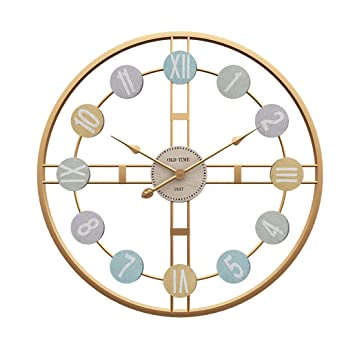 MRKE Reloj Pared Grande, 50CM XXXL Reloj Pared Vintage - Silencioso - 3D - Moderno - Metal - Reloj de Pared: Amazon.es: Hogar