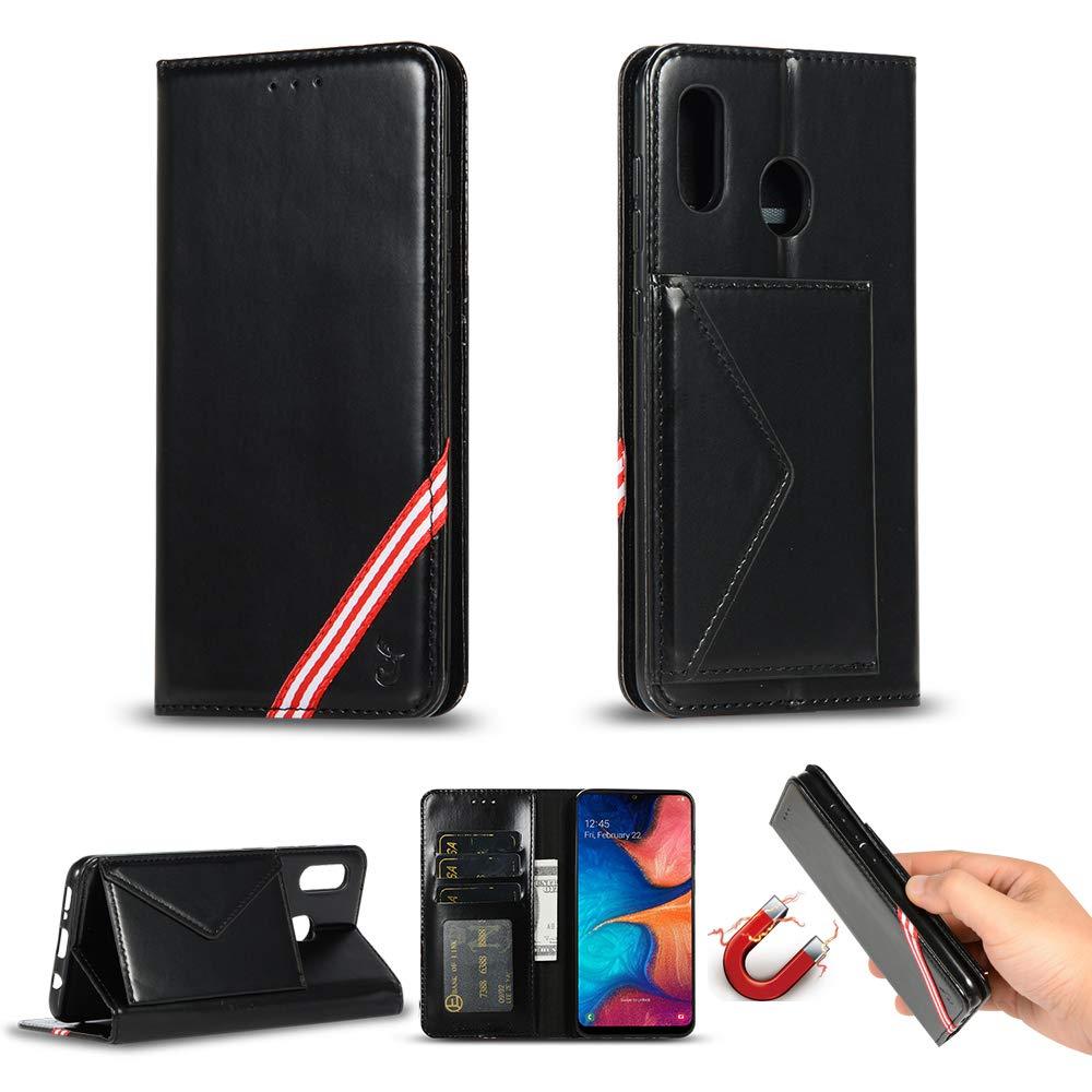 Miagon pour Coque Huawei P Smart 2019,PU Cuir Portefeuille Housse Rabat Antichoc Pochette Protection /Étui Case Cover avec Support Magn/étique Carte de Cr/édit,Noir