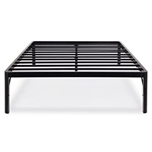 PrimaSleep 18 Inch Tall Metal Bed Frame with Round Edge Steel
