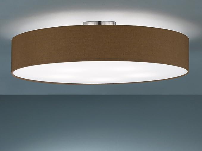 Plafoniera Tessuto : Trio leuchten plafoniera moli moderno metallo tessuto marrone