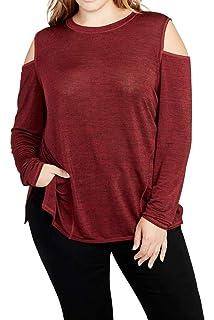 RACHEL Rachel Roy Womens Plus Size Cold Shoulder Pullover