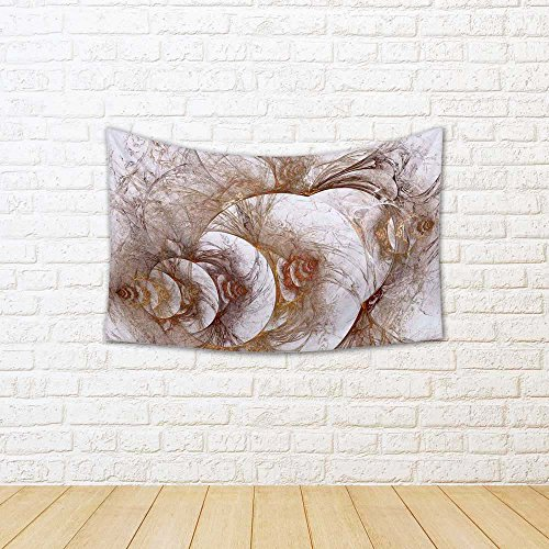 ArtzFolio Fractal Bulk Gold Pattern Satin Tapestry Wall Hang