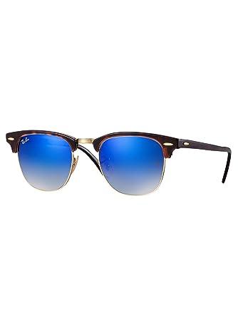 fc86696aae55e Lunettes de soleil pour homme RAY BAN Ecaille RB 3016 CLUBMASTER 990 7Q 49  21  Amazon.fr  Vêtements et accessoires