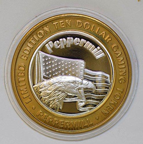 IE BU0347 US casino chip token peppermil nevada silvereagle animal DE PO-01