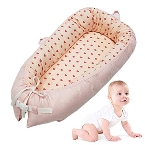 Lounger para Bebé Super Suave Y Transpirable Nido para Bebé Snuggle Nest, Cama Nido De Bebé Recién Nacido para Acurrucarse, Reductor Protector De ...