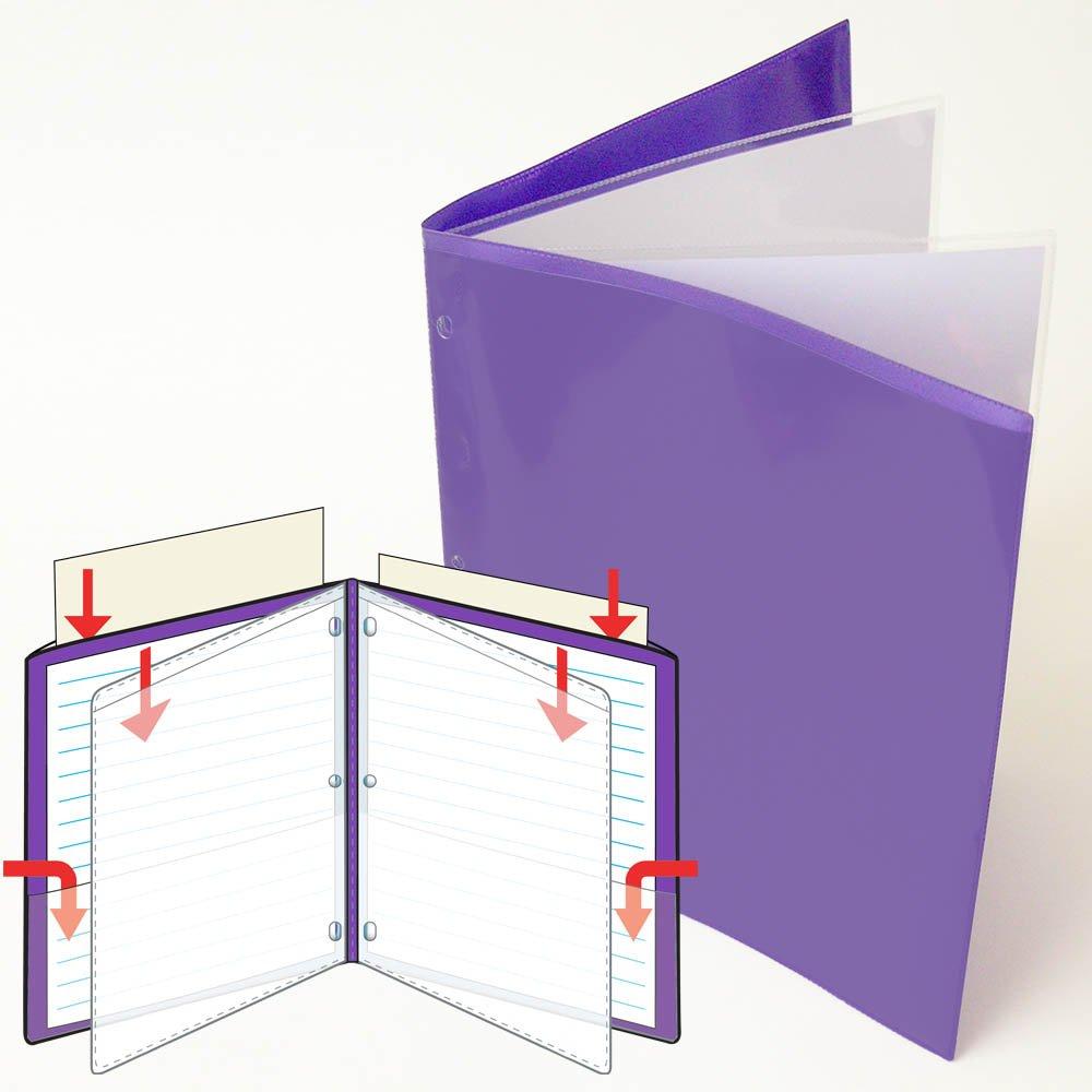 StoreSMART - 9 1/4'' x 11 3/4'' Multi-Pocket Folder - Metallic Purple - Two-Page - 50 Pack - ZR8004-MP-50