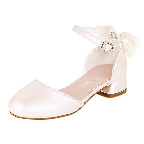 Dor/émi Festliche M/ädchen Ballerinas Schuhe mit Schnalle f/ür Hochzeit Kommunion Feier