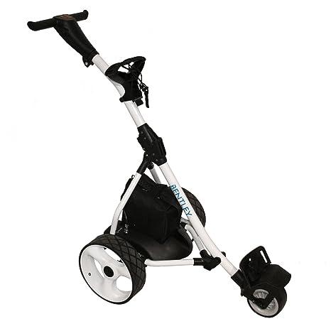 Trolley DE Golf para Caddie ELÉCTRICO Bentley con BATERÍA 200 W 35 A - Blanco