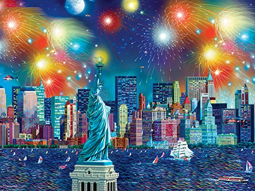 Buffalo Games - Cities in Color - Manhattan Celebration - 750 Piece Jigsaw Puzzle Beijing 2008 Summer Olympic Games