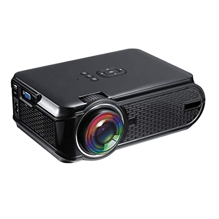 HHCC Mini Proyector Proyector Portátil con Soporte para 1080P HD Y ...