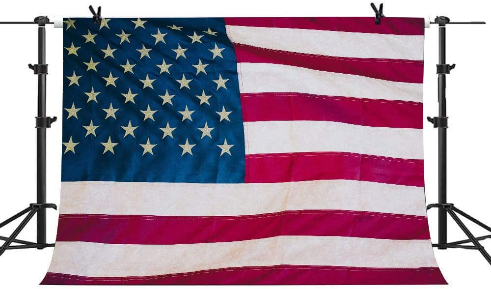 10X6FT US Flag Backdrop American Flag Photography Background Nationl Day 4th of July Independence Day Veterans Day Background Customed Seamless Vinyl Photo Backdrop Studio Props GEEV111 LELEZ