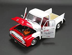 1953 Ford F100 Push Truck White and Red Limited Edition to 996 Pieces Worldwide 1/18 Diecast Model Car by Acme A1807208